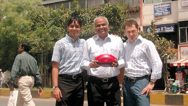 Ruchir, Prakash and Mark in Pune, India, 2004